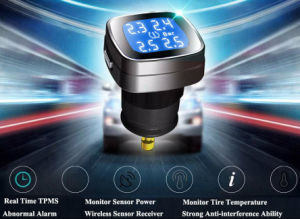 4external Sensor Cigarrete Lighter Tire Pressure Monitor System TPMS Factory China pictures & photos