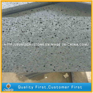 Natural Honed Hainan Black Basalt Tiles for Flooring and Wall pictures & photos