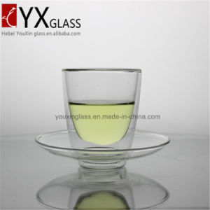 200ml Double Wall Glass Coffee Cup with Glass Saucer Glass Spoon/Double Wall Glass Coffee Mug/Double Wall Glass Coffee Cup Set pictures & photos