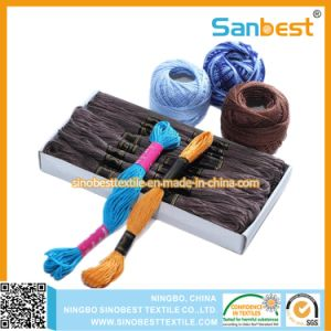Colorful 100% Cotton Embroidery Thread pictures & photos