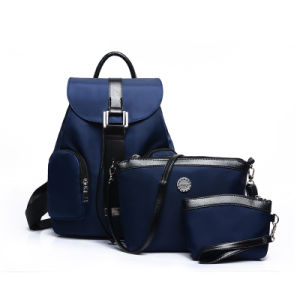 Laptop Women Leather Backpack Set pictures & photos