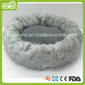 Grey Antibacterial Plush Pet Bed Pet House pictures & photos