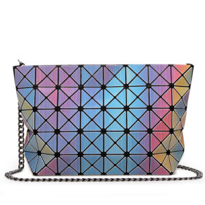 Rainbow PU Metal Strap Zipper Lady Handbag (A0111) pictures & photos