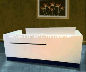 Corian Acrylic Solid Surface Furniture Carved Reception Desk pictures & photos