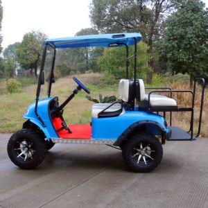 Ce Certification 4 Passenger Electric Hunting Golf Cart (Rear flip seats) Electric Vehicles pictures & photos