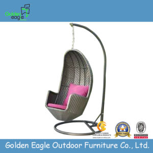 Cheap Outdoor Garden Rattan Swing with Soft Cushion
