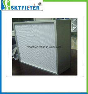 Deep-Pleat HEPA/ULPA Filter Glassfiber Media with Stainless Steel pictures & photos