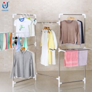 Single-Pole Double-Pole Screen-Type Drying Clothes Rack Hanger Clothes Rack pictures & photos