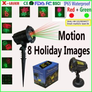 Canton Fair New Red Green 8 In1 Patterns and Star Laser Light Outdoor Christmas Garden Light pictures & photos