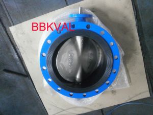 Rubber Lined Centric Double Flange Butterfly Valve S13 pictures & photos