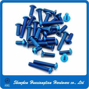 China Manufacture Hexagon Socket Pan Head Anodized Aluminum Screws pictures & photos