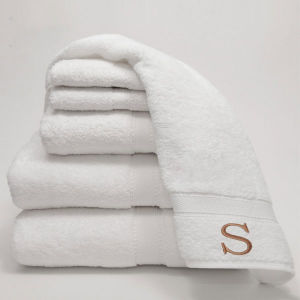 Sheraton Hotel Towel Customized Cotton Terry White Embroidery Bath Towels pictures & photos