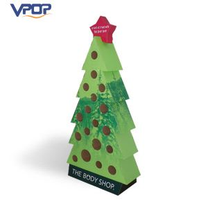 Christmas Tree Shape Cardboard Display Standee for Advertising Promotion pictures & photos