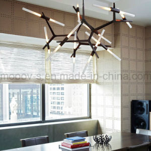 American Style Adjustable and Rotatable Transformers Metal Branch Glass Pipe Retro Candle Chandelier Light pictures & photos