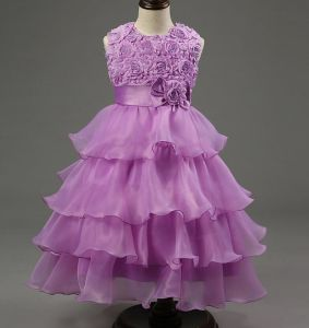 Tulle Ruffled Handmade Flower Girls′ Dresses pictures & photos