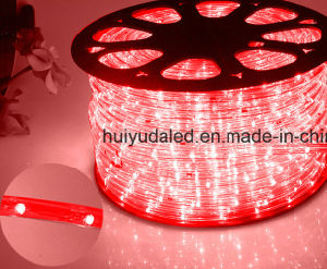 LED Rope Light/Outdoor Light/LED Strip Light/Neon Light/Christmas Light/Holiday Light/Hotel Light/Bar Light Round Two Wires Red Color 25LEDs 1.6W/M LED Strip pictures & photos