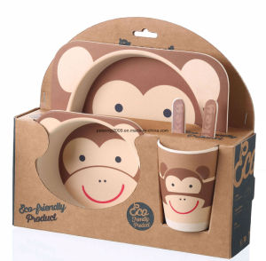 Wholesale Dishes Plate Set for Baby Kids Bamboo Fiber Dining Plate Set pictures & photos