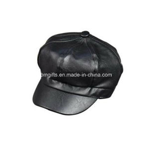 Blank PU Cap Customized Design PU Leather Cap Plain Leather Cap pictures & photos
