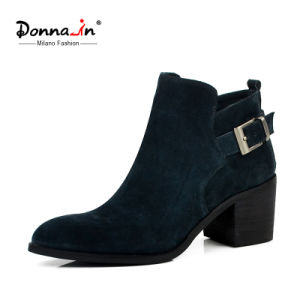Casual Lady Suede Leather Shoes Pointed-Toe High Heels Women Boots pictures & photos