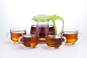 Home Goods Tea Set Teapot with 4 PCS Glass Cup