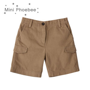 Phoebee 100% Cotton Boys Khaki Shorts for Summer with Pockets pictures & photos