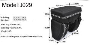 Adjustable and Carrying Rear Bicycle Bag pictures & photos