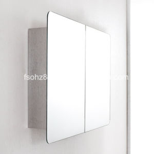 Moderate Price Stainless Steel furniture Bathroom Mirror Cabinet (7012) pictures & photos