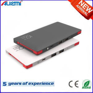 Ultrathin 8000mAh Dual USB Power Bank with Cables