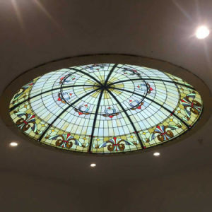 Architecture Sheds Extra Large Circular Stained Glass Dome with Base pictures & photos