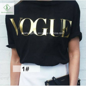 European Fashion Short Sleeved Letter T-Shirt Women Factory Direct pictures & photos
