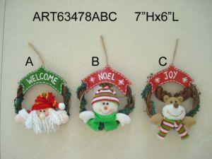 "24""H Wood Based Standing Santa Snowman-2asst. -Christmas Decoration pictures & photos"