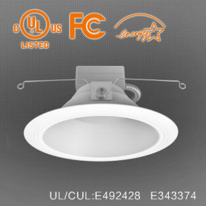 100lm/W 8 Inch Fireproof LED Can Light with 0-10V Dimmer pictures & photos