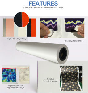 Sublimation Paper for Textile Garment Mug Porcelain Fabrice Skateboard Tshirt pictures & photos