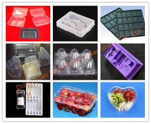 Plastic Blister Lunch Box Vacuum Forming Machine pictures & photos