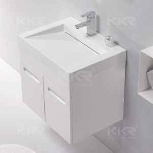 Solid Surface Rectangular Square Cabinet Wash Basin pictures & photos