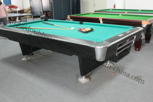 Popular Slate Solid Wood Billiard Table Auto Ball Return Pool Table pictures & photos