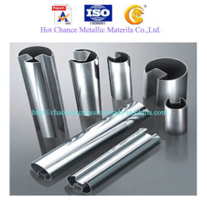 Stainless Steel Slot Pipe for Glass Handrail pictures & photos