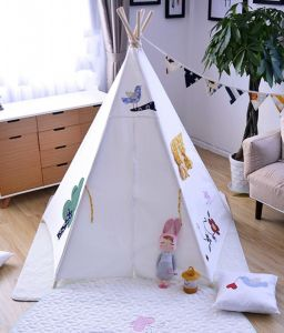 Indoor Indian Teepee Embroidery Giraffe style pictures & photos