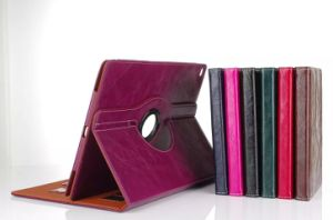 Business Rotating Leather Flip Case for Apple iPad Series pictures & photos