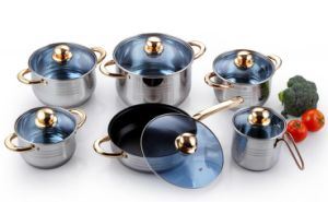 Stainless Steel Cookware-12 PCS Kitchen Ware pictures & photos