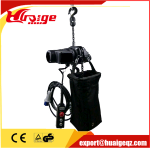 High Quality Best safety Stage Electric Chain Hoist pictures & photos