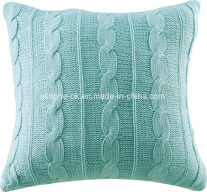 Knit Cardigan Decorative Sofa Throw Pillow Cushion Cover 100% Acrylic pictures & photos