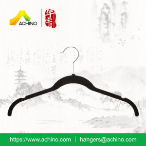 Black Flocked Shirt Hanger (FT001) pictures & photos