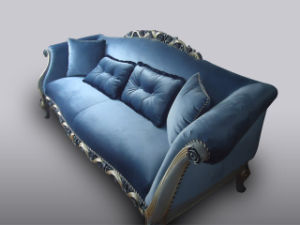 Divany Classical Solid Wood Sofa, Fabric Sofa pictures & photos