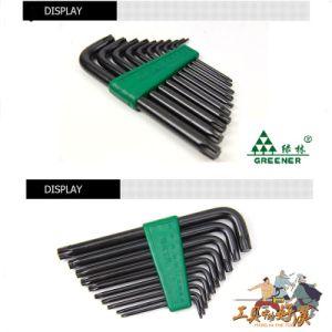 9 PCS Hex Allen Key Set with Long Arm Black Color pictures & photos