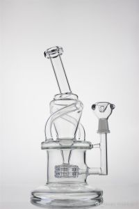 Recycler Pipe Glass Pipe Oil Rigs Glass Water Pipe with Circle Base Tyre Percalator and Thick Base and Mouthpiece pictures & photos