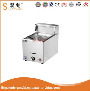 6L Gas Deep Fryer 1 Tank 1 Basket for Wholesale pictures & photos