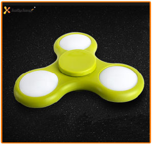 Stock for Wholesale Spinner Toy Tri LED Light Fidget Spinner Hand Spinner