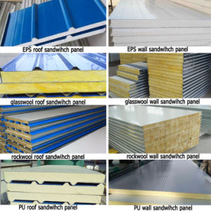 Dfx EPS/Glass Wool/Rock Wool/PU Sandwich Panel pictures & photos