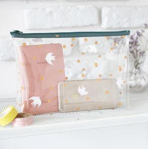 Cute Cartoon Transparent PVC Travel Cosmetic Bag pictures & photos